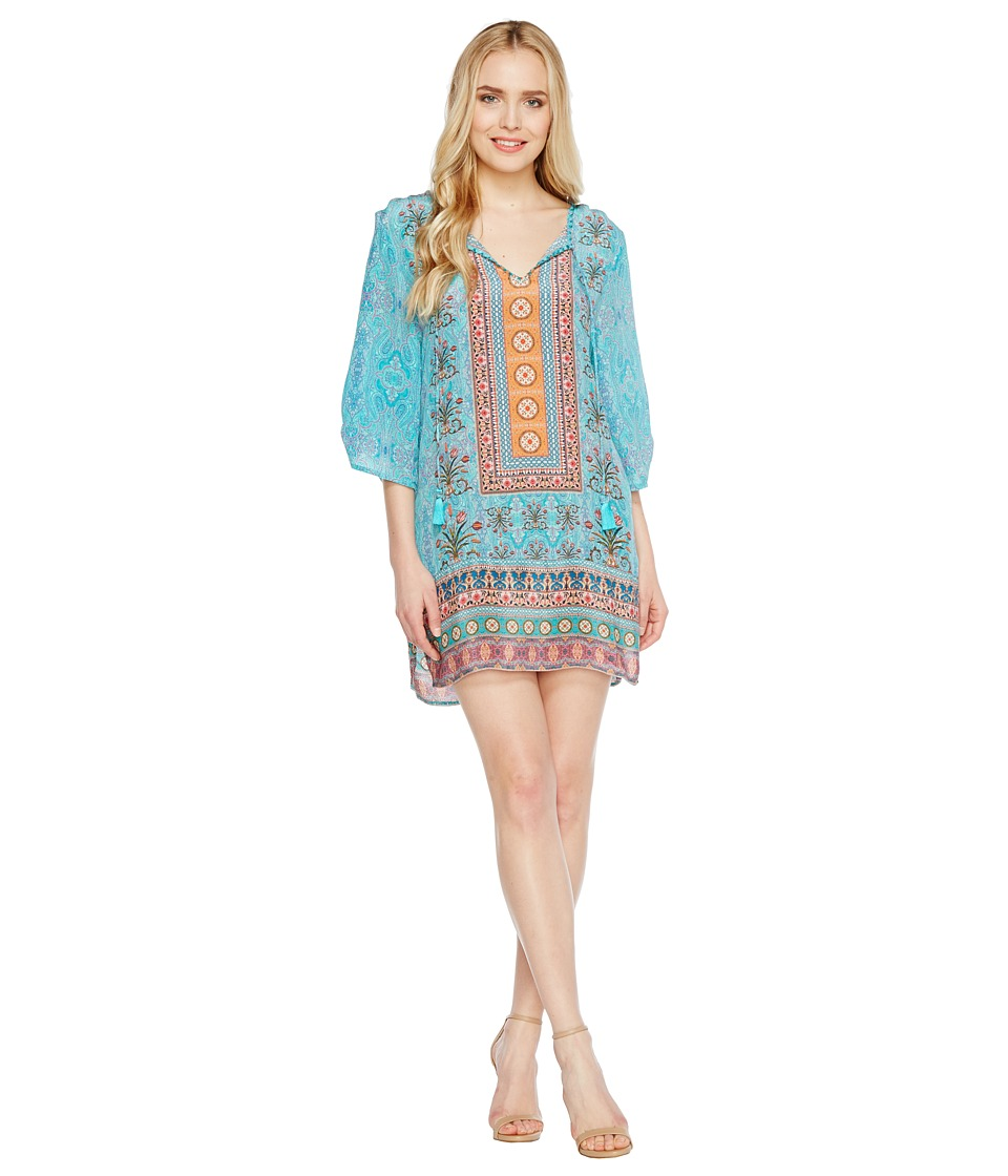 Tolani Evie Tunic Dress (Turquoise) Women
