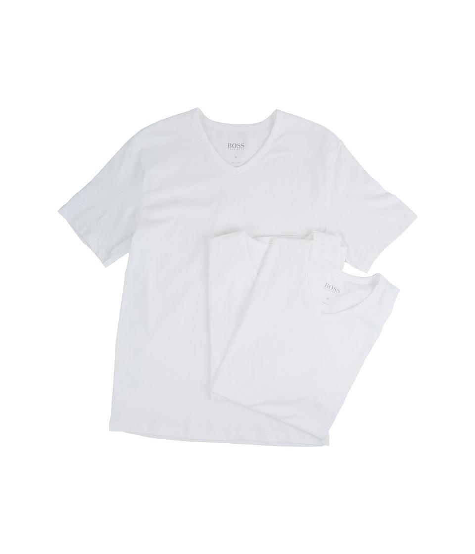 BOSS Hugo Boss T-Shirt V-Neck 3-Pack US CO 10145963 01 (White) Men