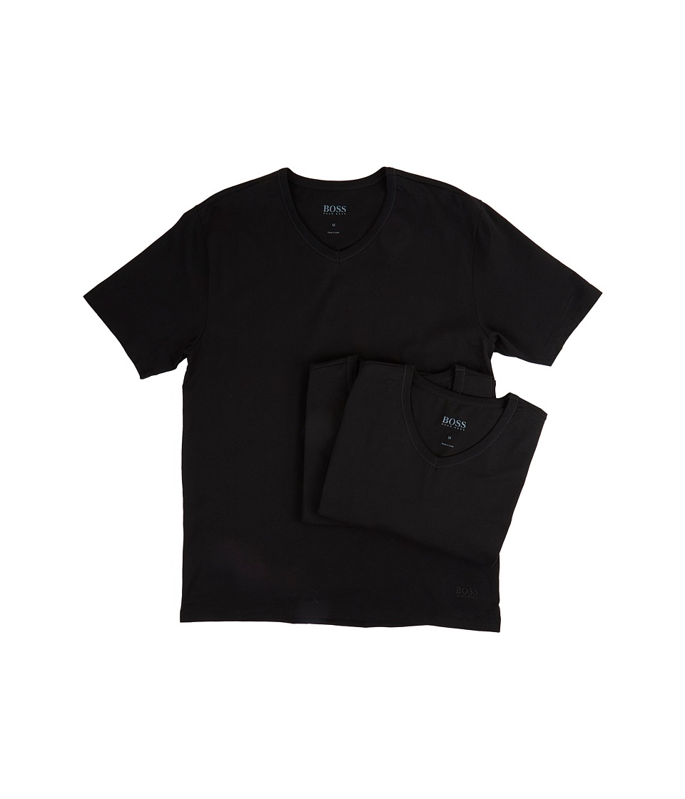 BOSS Hugo Boss T-Shirt V-Neck 3-Pack US CO 10145963 01 (Black) Men