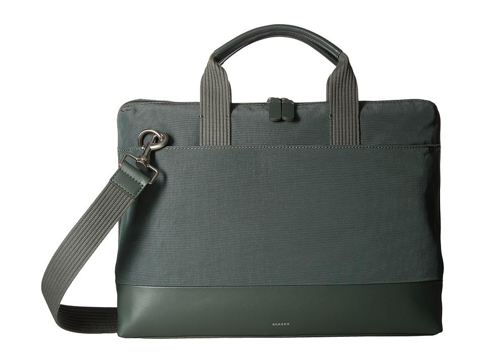 Skagen Peder Slim Briefcase (Agave) Briefcase Bags