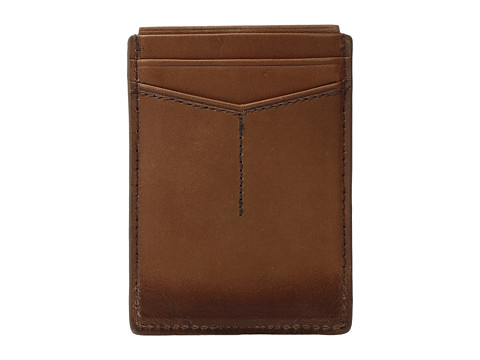 Fossil Paul RFID Magnetic Card Case - Cognac