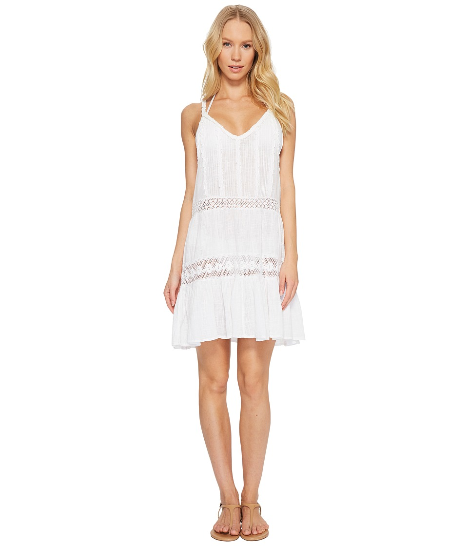 Polo Ralph Lauren Cotton Slub Ruffle Dress Cover-Up (White)