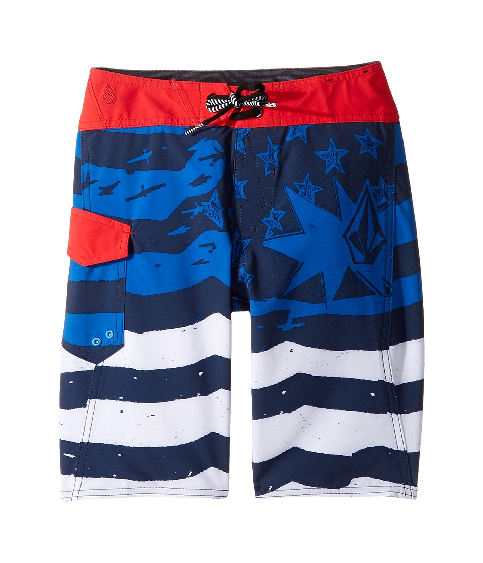 Volcom Kids Youth of July Mod Boardshorts (Big Kids) (Blue True) Boy