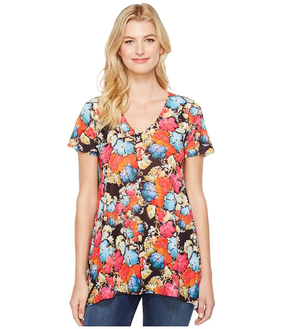 Nally & Millie - Floral Print V-Neck Tunic