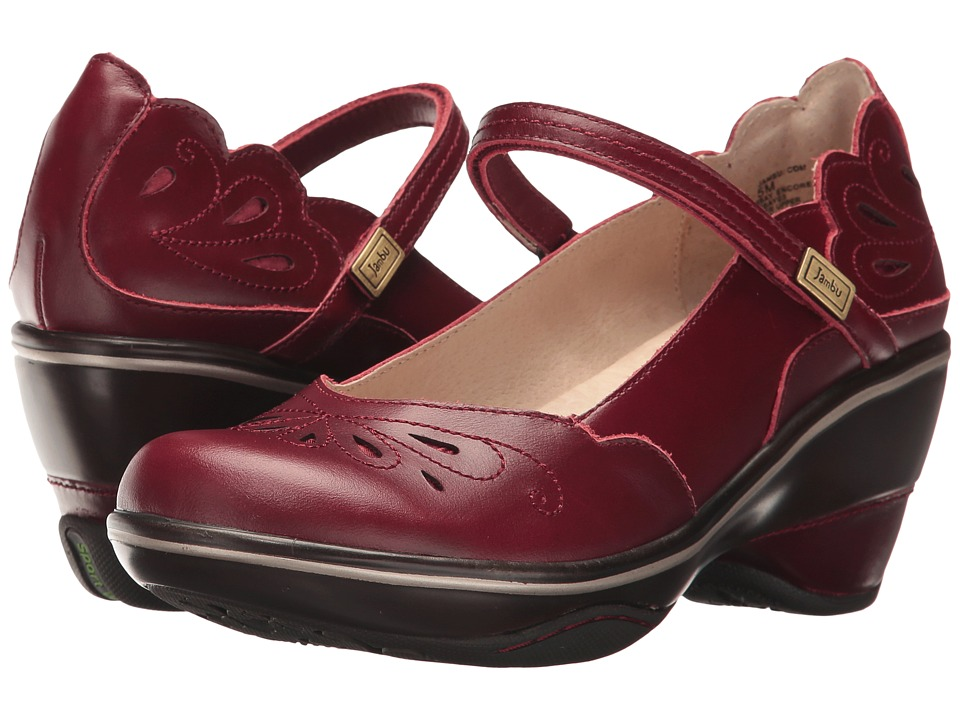 Jambu Bombay Encore (Red Full Grain Leather) Women