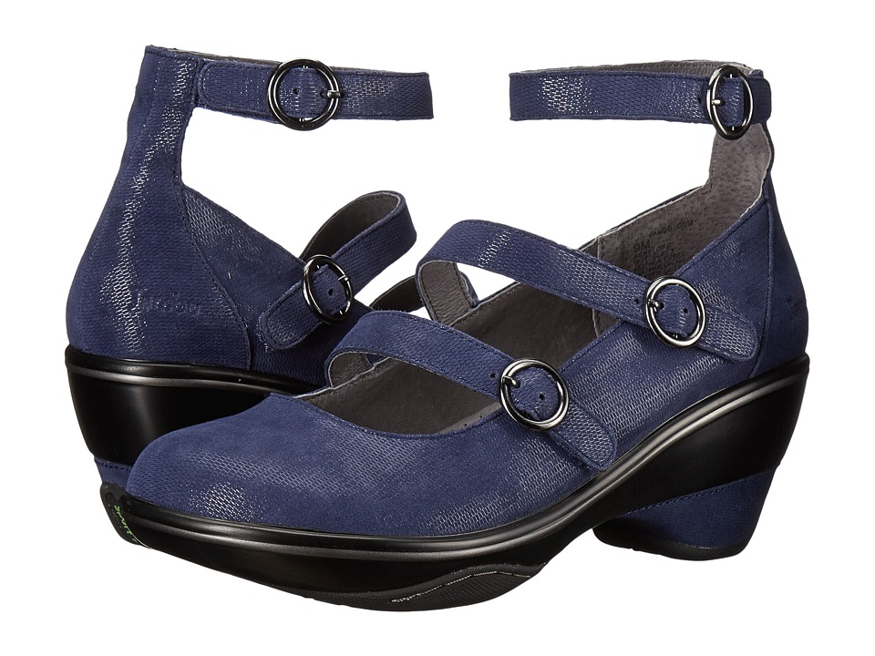 Jambu - Penelope (Navy Shimmer Suede) Womens Wedge Shoes