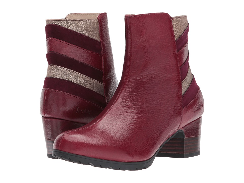 Retro Boots, Granny Boots, 70s Boots Jambu - Amal Water-Resistant Wine Multi Full Grain Tumble LeatherKid SuedeMetallic Shimmer Womens Boots $110.99 AT vintagedancer.com