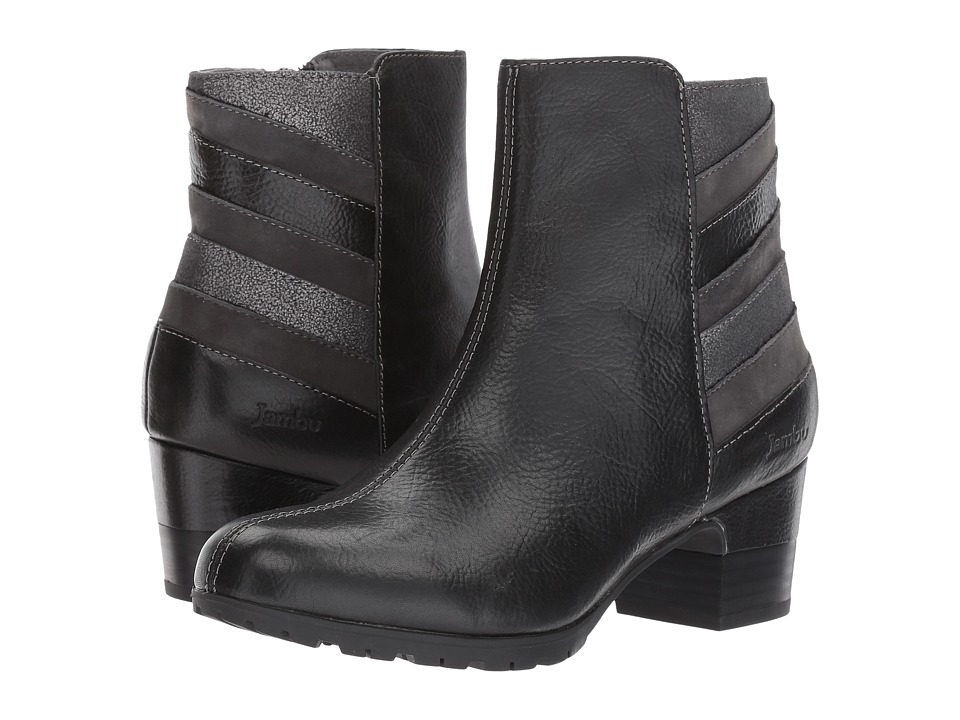 Retro Boots, Granny Boots, 70s Boots Jambu - Amal Water-Resistant Black Multi Full Grain Tumble LeatherKid SuedeMetallic Shimmer Womens Boots $110.99 AT vintagedancer.com