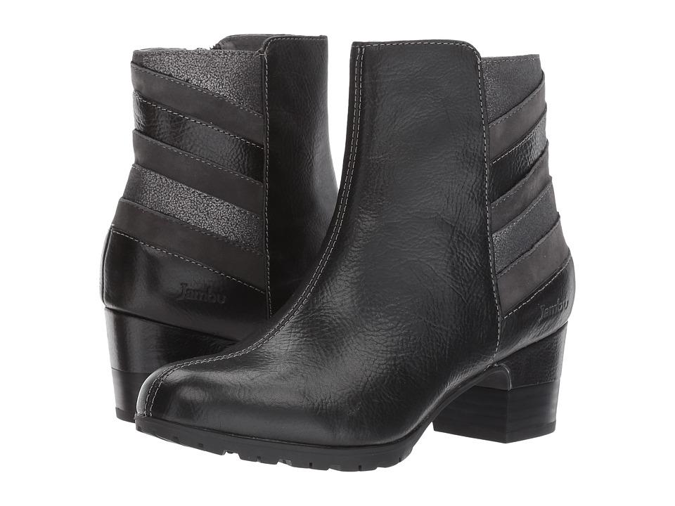 Jambu Amal Water-Resistant (Black Multi Full Grain Tumble Leather/Kid Suede/Metallic Shimmer) Women