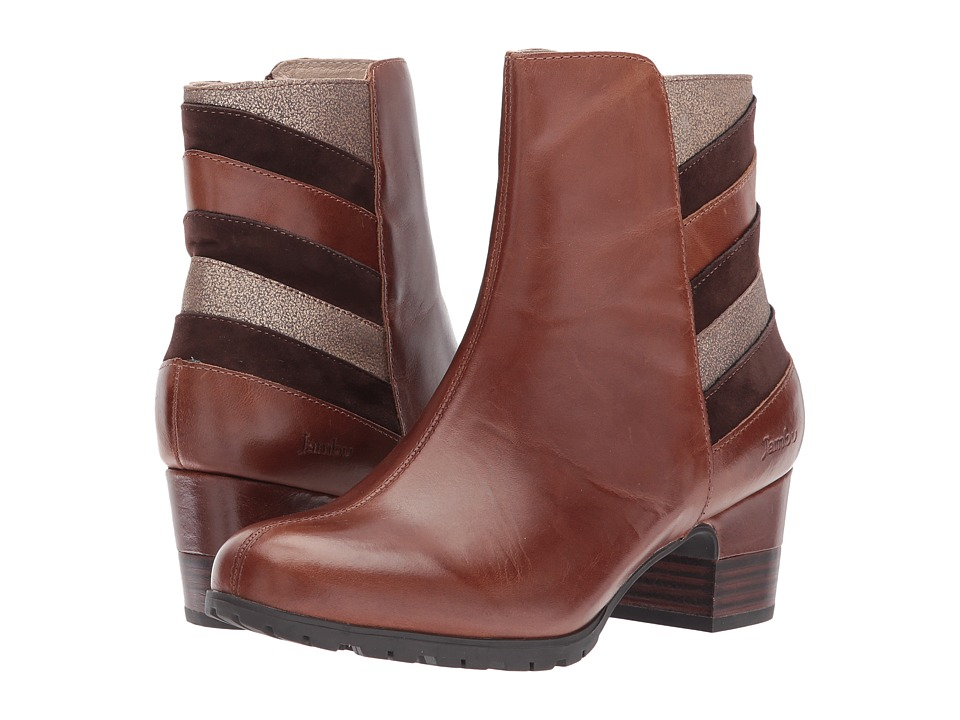 Jambu Amal Water-Resistant (Brown Multi Full Grain Tumble Leather/Kid Suede/Metallic Shimmer) Women