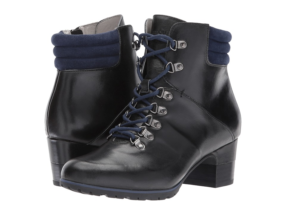 Retro Boots, Granny Boots, 70s Boots Jambu - Burch Water-Resistant Midnight Full Grain LeatherKid Suede Womens Boots $110.99 AT vintagedancer.com