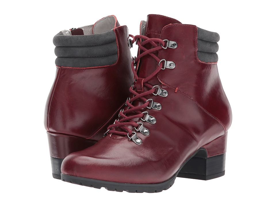 Retro Boots, Granny Boots, 70s Boots Jambu - Burch Water-Resistant Deep Red Full Grain LeatherKid Suede Womens Boots $110.99 AT vintagedancer.com