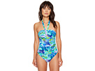 Lush Tropical Cut Out One-Piece