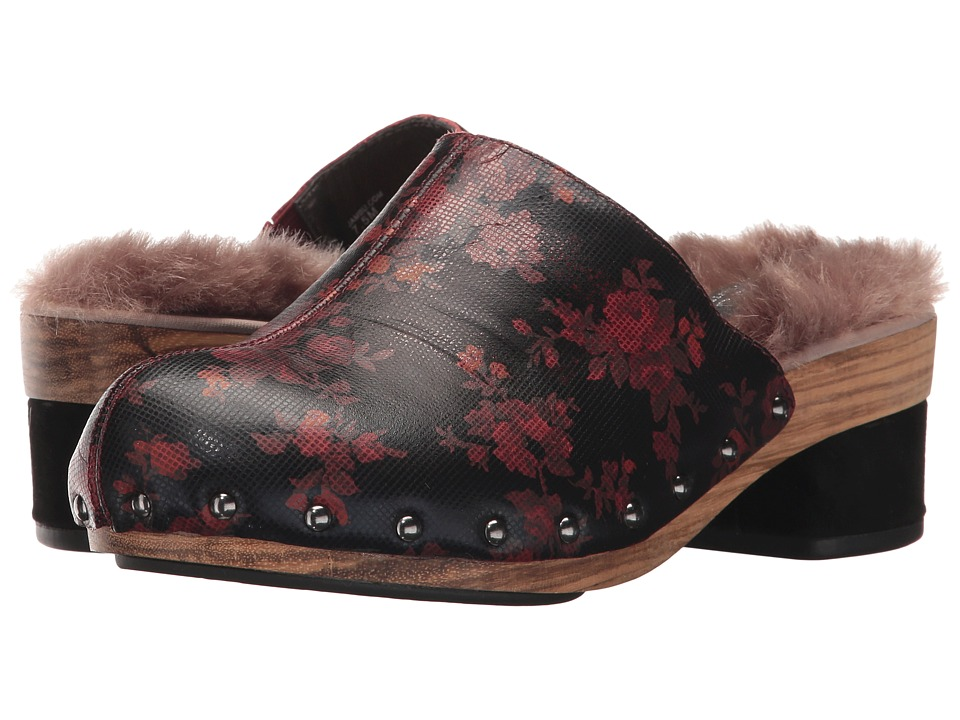 Jambu Monaco (Wine Floral Printed Leather/Faux Fur) Women