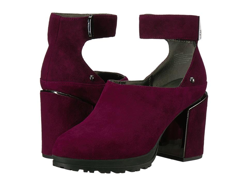 Jambu Canary (Plum Kid Suede) Women's 1-2 inch heel Shoes