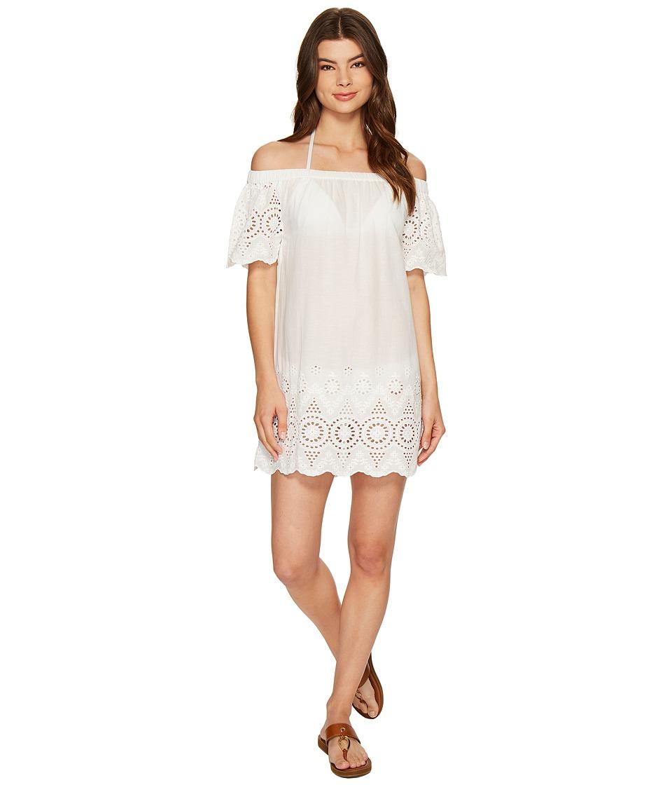 Ralph Lauren Off Shoulder Shift Dress Cover-Up (White) Wo...