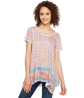 Nally & Millie - Border Print Sharkbite Tunic