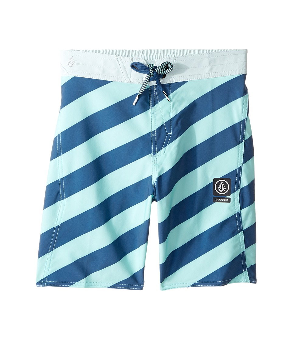 Volcom Kids Stripey Elastic Boardshorts (Little Kids/Big Kids) (Ice Green) Boy
