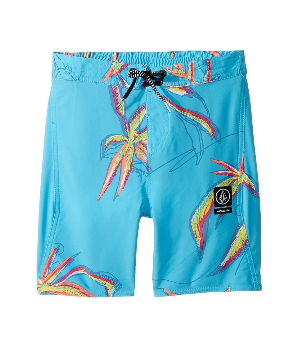 Volcom Kids Tropic Elastic Boardshorts (Toddler/Little Kids) (Dusty Aqua) Boy