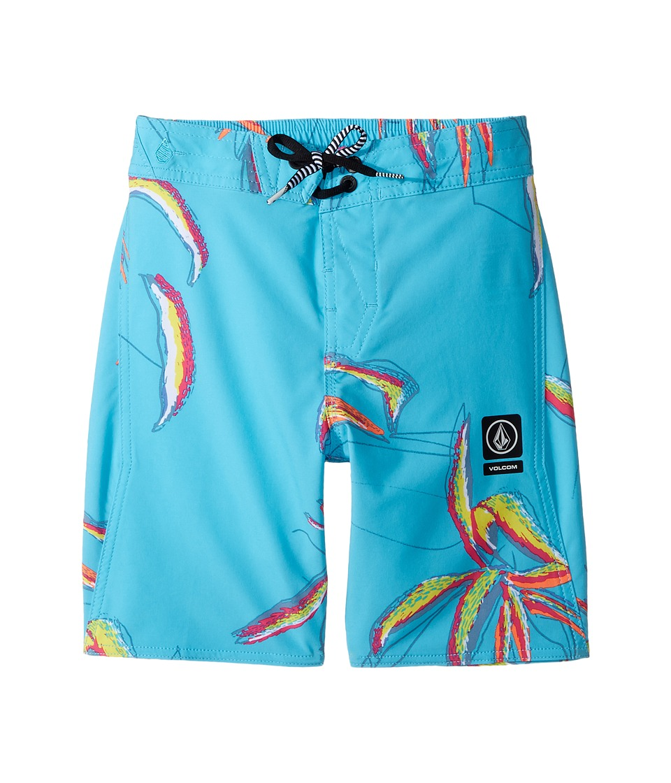 Volcom Kids Tropic Elastic Boardshorts (Little Kids/Big Kids) (Dusty Aqua) Boy