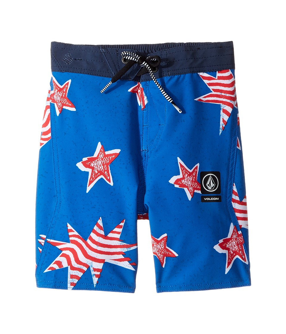 Volcom Kids Freedom Elastic Boardshorts (Toddler/Little Kids) (Blue True) Boy