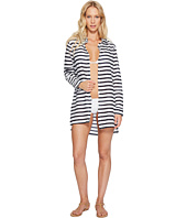 LAUREN Ralph Lauren - Stripe Crushed Cotton Camp Shirt Cover-Up