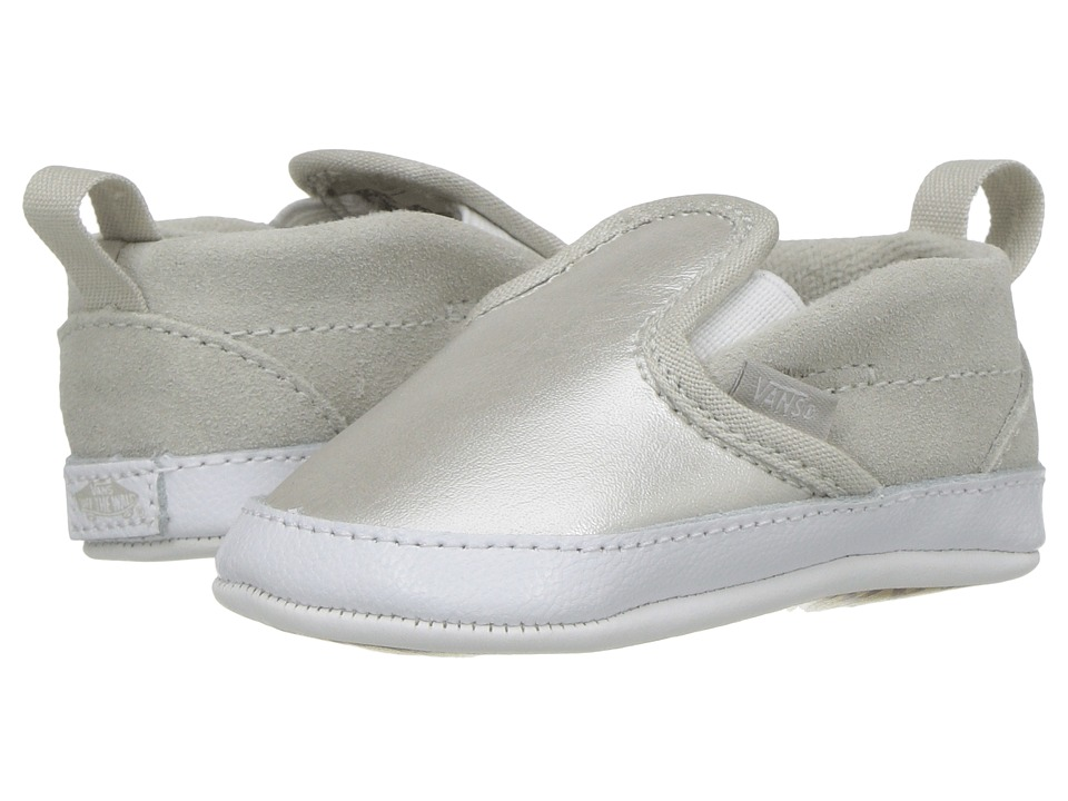 Vans Kids - Slip-On V Crib (Infant/Toddler) (Metallic) Girls Shoes