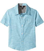 Volcom Kids - Everett Oxford Short Sleeve Woven Top (Toddler/Little Kids)