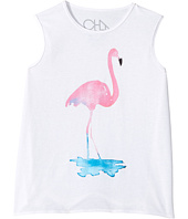 Chaser Kids - Watercolor Flamingo Tank Top (Little Kids/Big Kids)