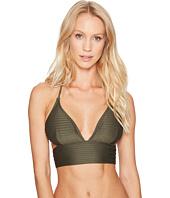 MICHAEL Michael Kors - Graphic Rib Halter Bikini Top