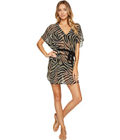 MICHAEL Michael Kors - Quincy Zebra Belted Caftan Cover-Up