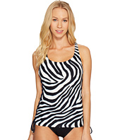 MICHAEL Michael Kors - Quincy Zebra Lace-Up Tankini