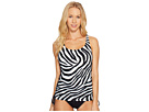 Quincy Zebra Lace-Up Tankini