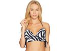 MICHAEL Michael Kors - Quincy Zebra Lace-Up Halter Bikini Top