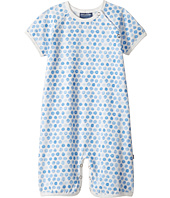 Toobydoo - Watercolor Dot Blue Shortie Jumpsuit (Infant)