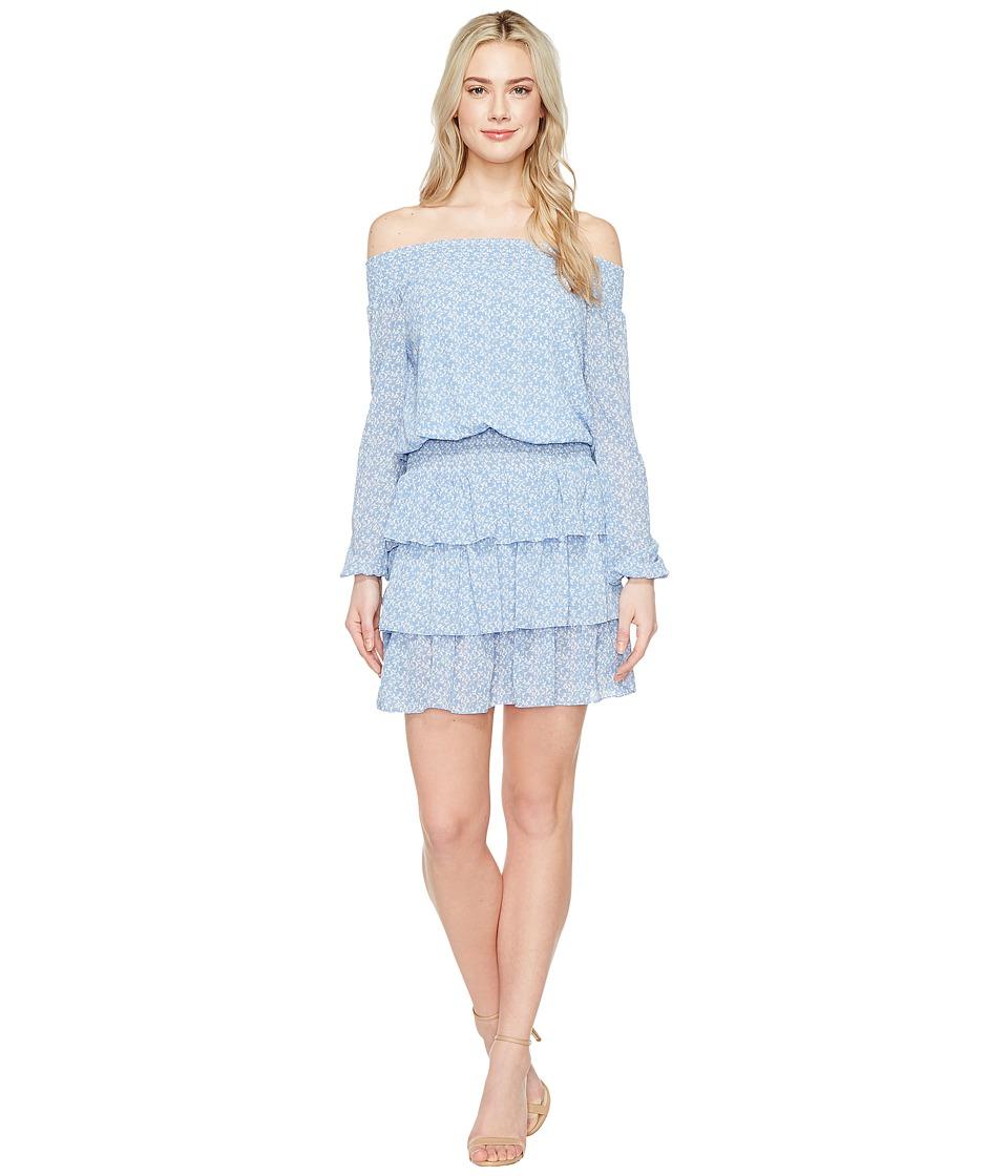 MICHAEL Michael Kors Mellora Off Shoulder Dress (Blueberry) Women