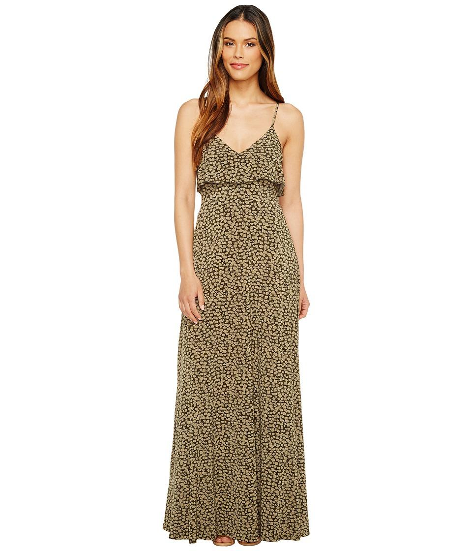 MICHAEL Michael Kors Finley Flounce Maxi (Safari Green) Women