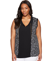 MICHAEL Michael Kors - Plus Size Finly Woven Panel Chain Top