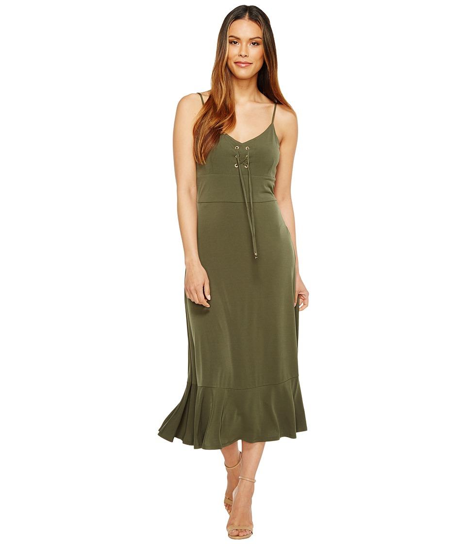 MICHAEL Michael Kors Lacing Slip Dress (Ivy) Women