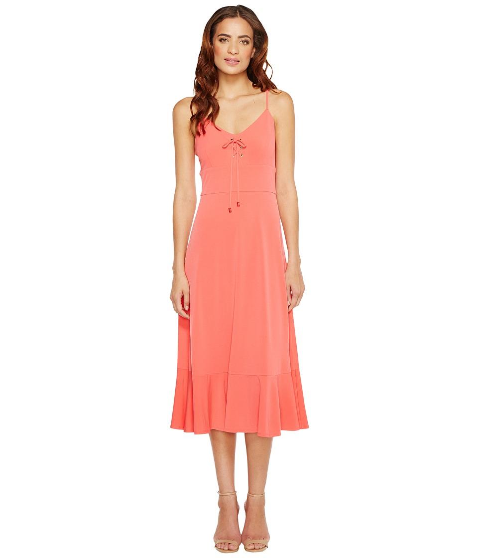 MICHAEL Michael Kors Lacing Slip Dress (Sangria) Women