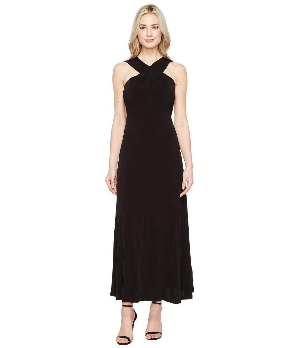 MICHAEL Michael Kors Cross Neck Dress Maxi (Black) Women