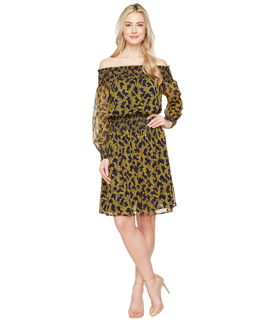 MICHAEL Michael Kors Arbor Smock Dress (Taxi Yellow) Women