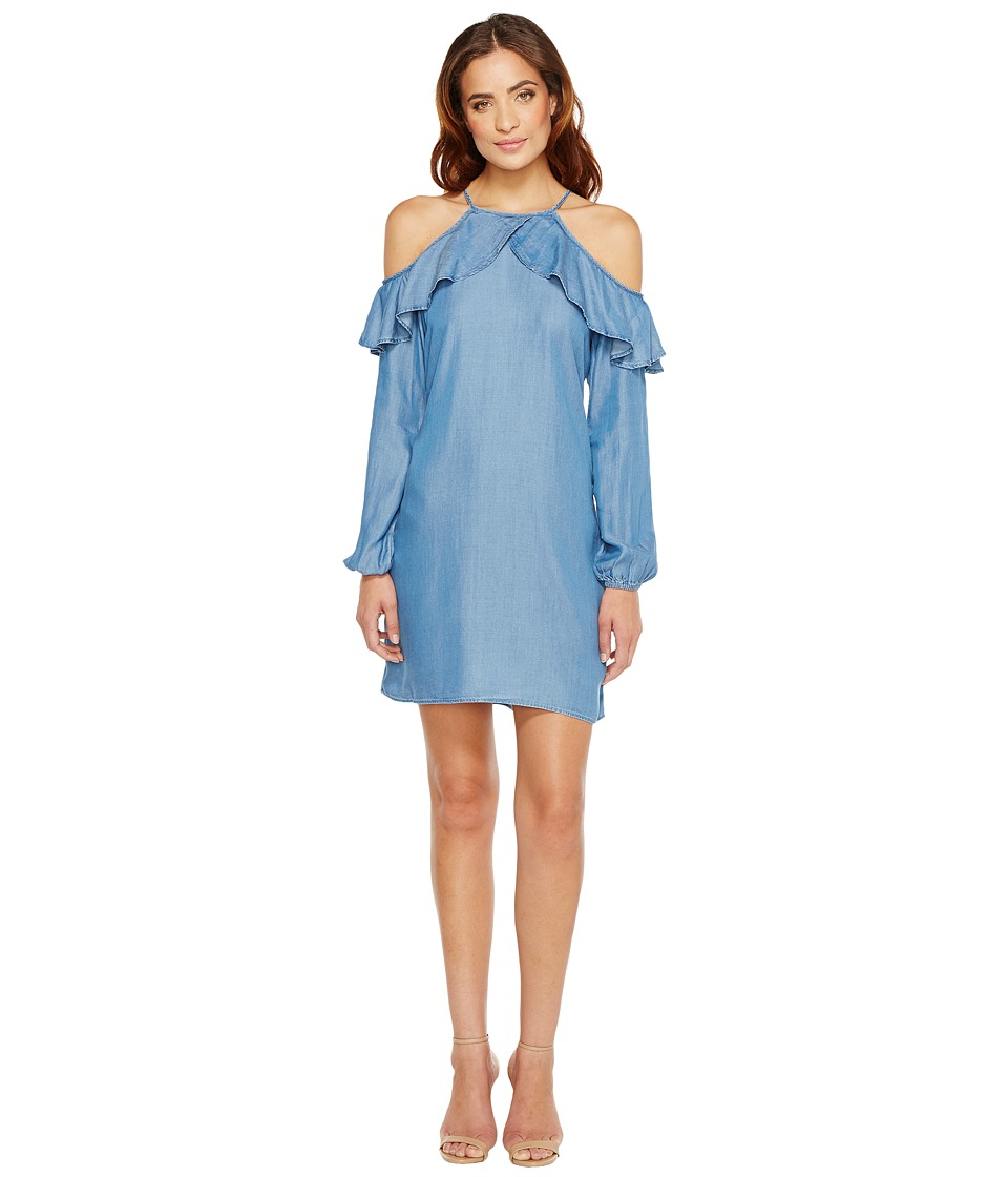 MICHAEL Michael Kors Cold Shoulder Dress (Light Cadet Wash) Women