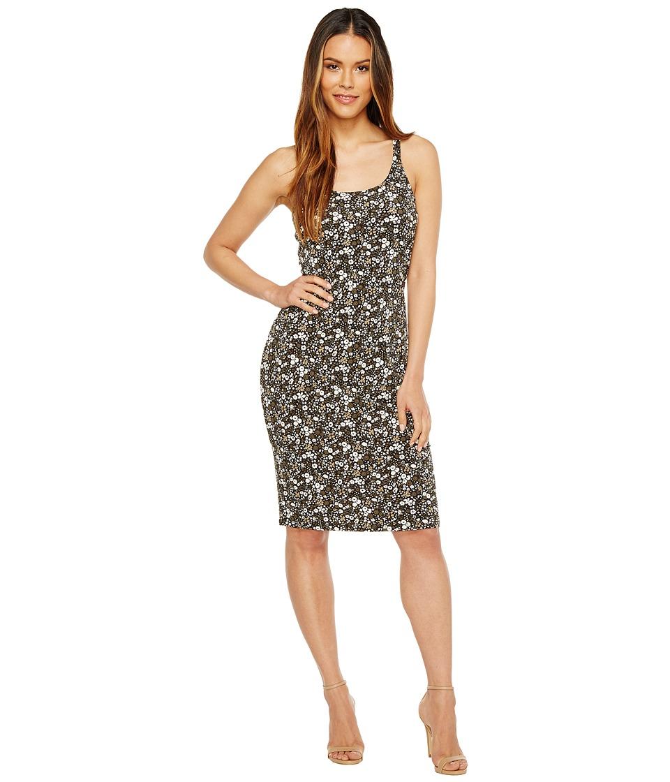 MICHAEL Michael Kors Brooks Strap Tank Dress (Safari Green) Women
