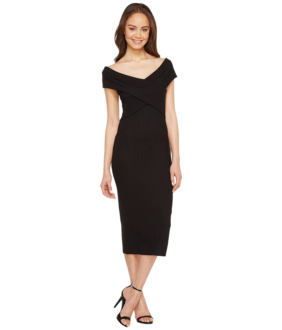 MICHAEL Michael Kors Crossover Neck Sleeveless Dress (Black) Women