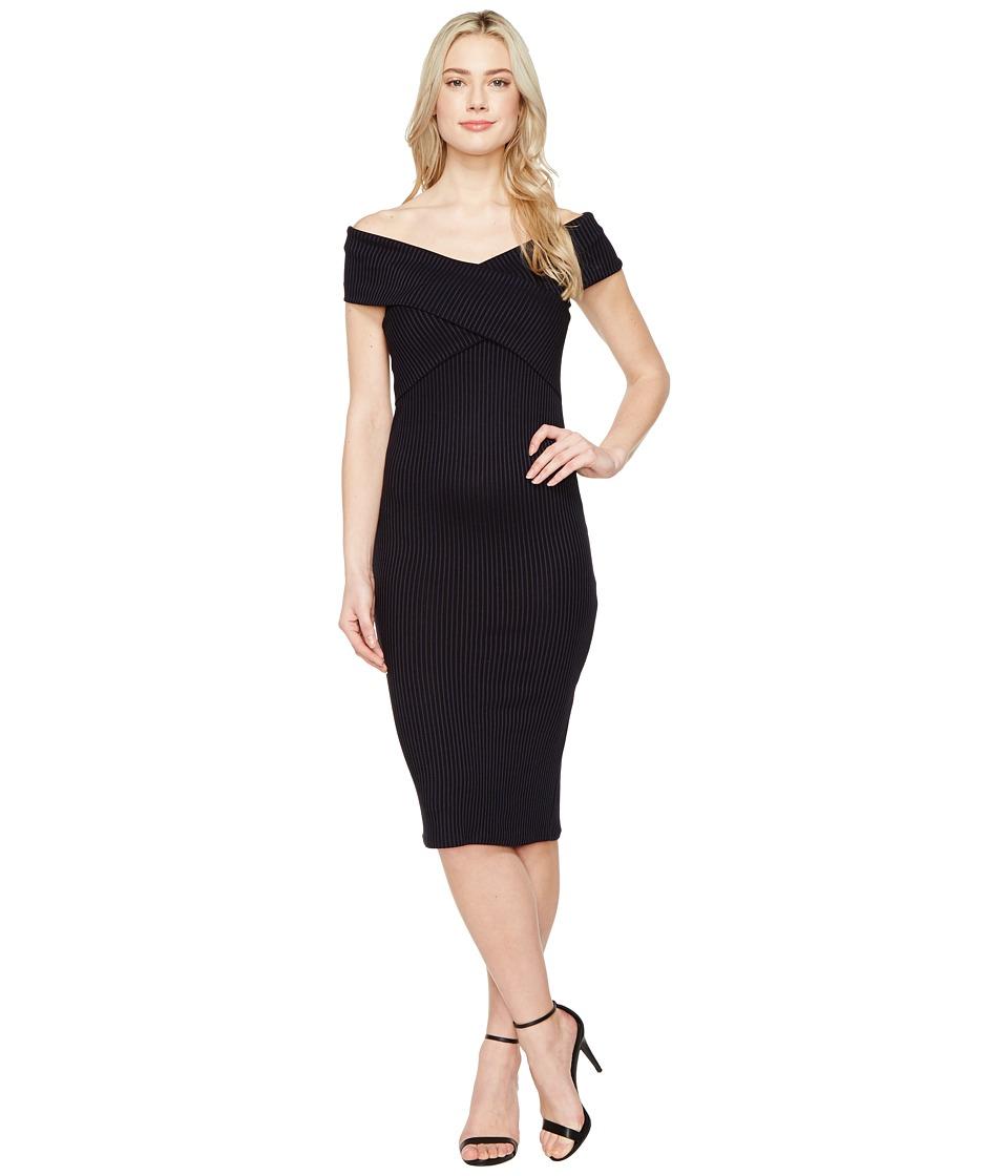 MICHAEL Michael Kors Crossover Neck Sleeveless Dress (True Navy) Women