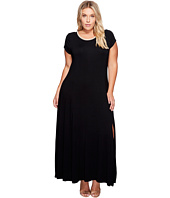 MICHAEL Michael Kors - Plus Size Cap Sleeve Slit Maxi Dress