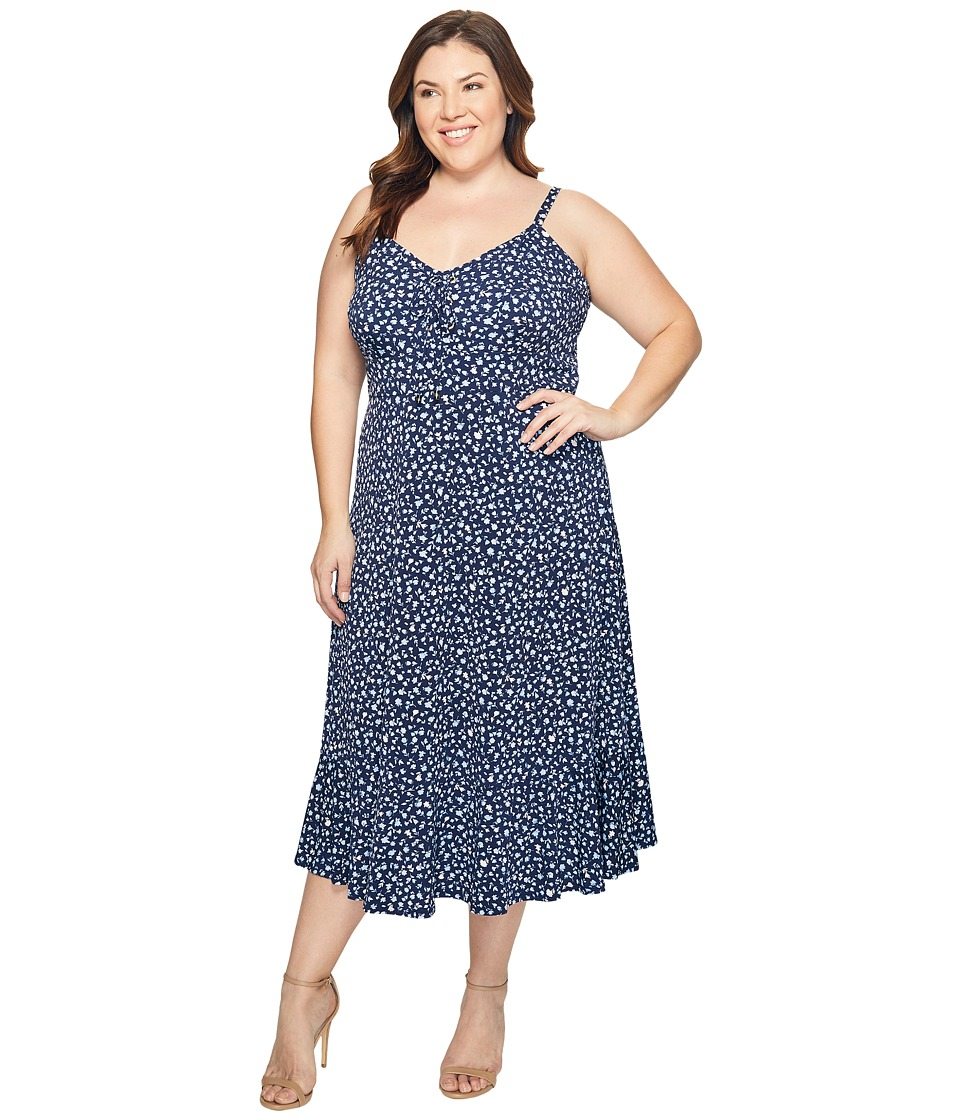 MICHAEL Michael Kors Plus Size Quinn Lacing Slip Dress (Cloud) Women