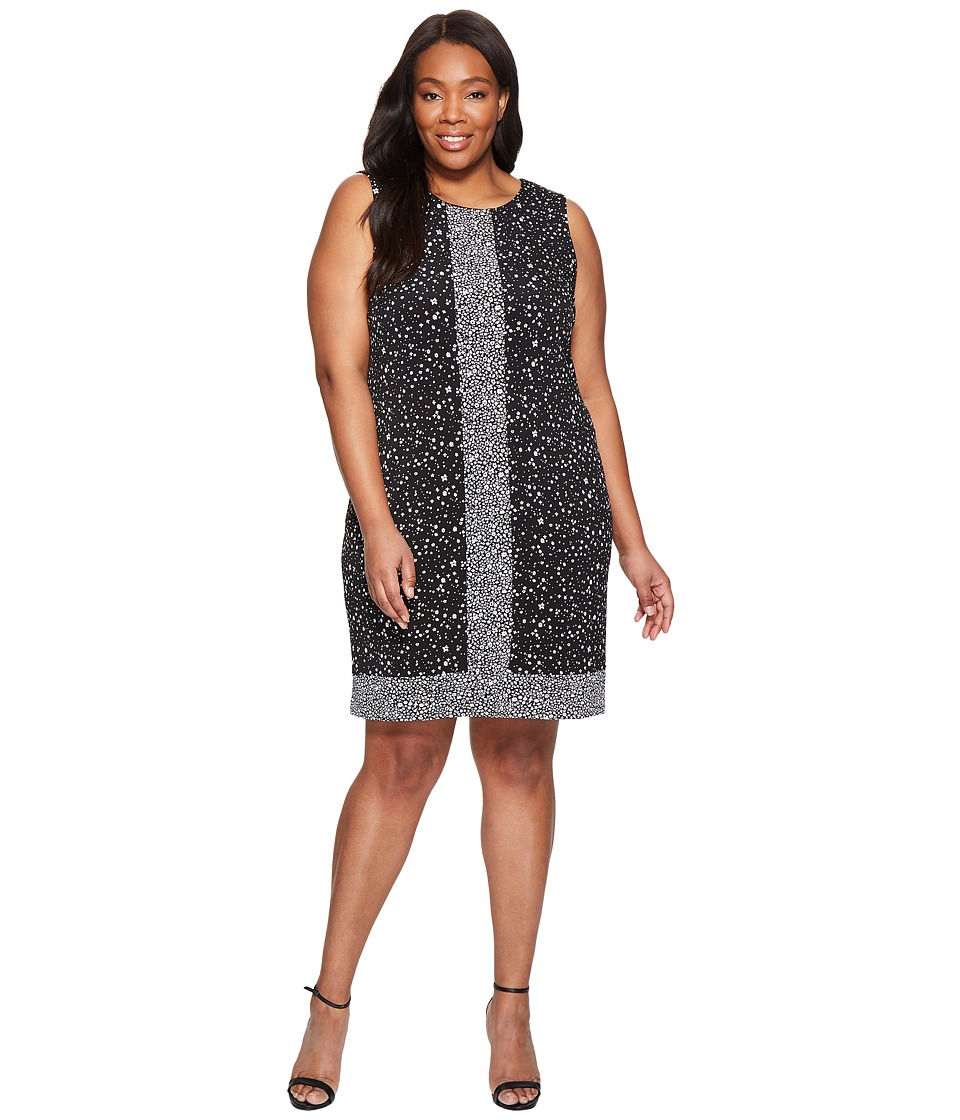 MICHAEL Michael Kors Plus Size Nora Sleeveless Border Dress (Black) Women