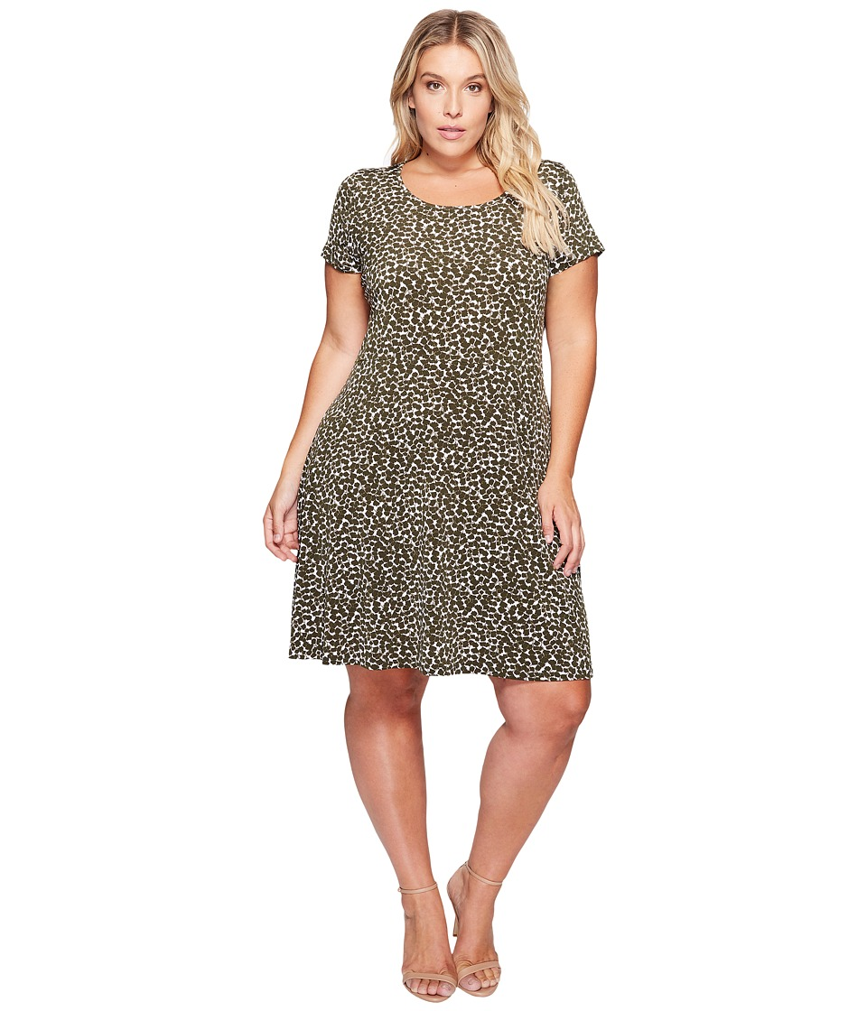 MICHAEL Michael Kors Plus Size Finley Mamba Cap Dress (Ivy) Women